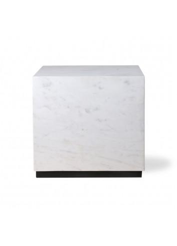 Marble Block Bijzettafel Large - Wit