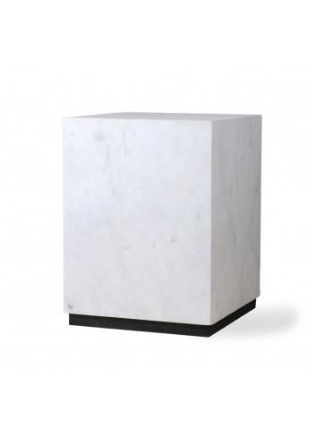 Marble Block Bijzettafel Medium - Wit
