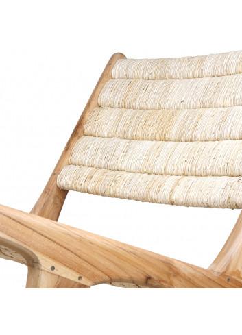 Abaca Lounge Stoel - Naturel