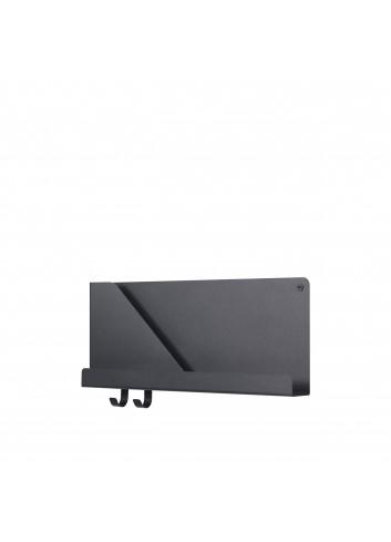 Folded Shelf Medium Wandplank 51x22cm - Zwart