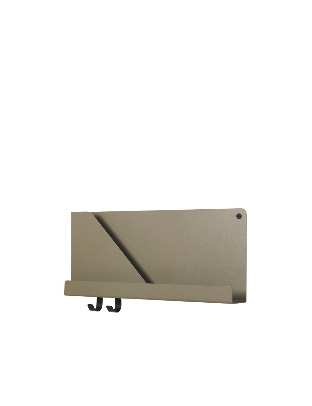Folded Shelf Medium Wandplank 51x22cm - Olijfgroen
