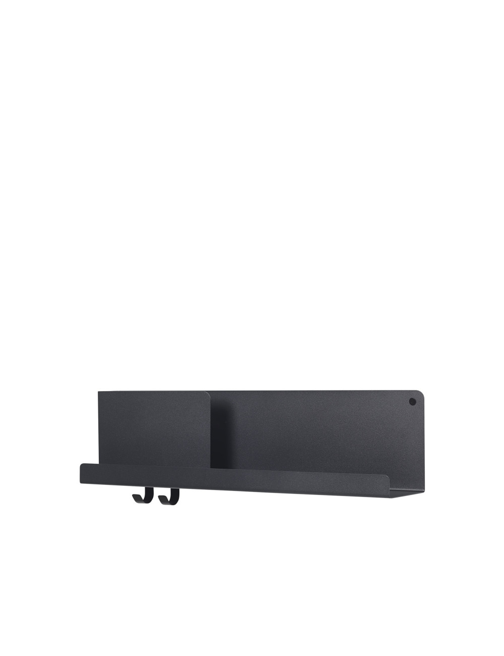 Folded Shelf Medium Wandplank 63x16.5cm - Zwart