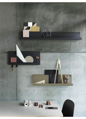 Folded Shelf Large Wandplank 96x13cm - Zwart