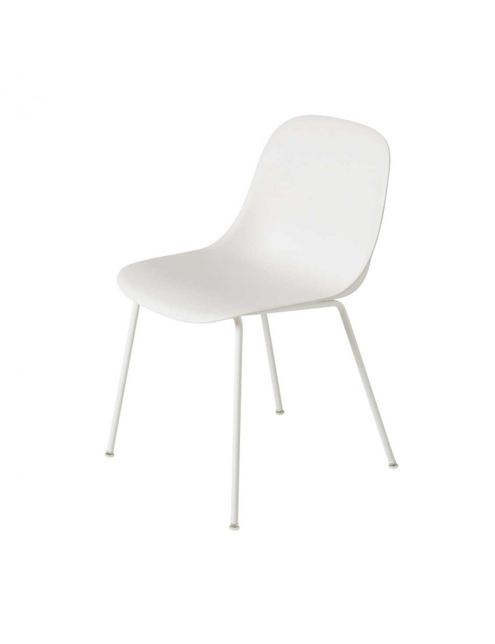 Showroommodel Stoel Fiber Side Chair Tube | wit/metalen poten