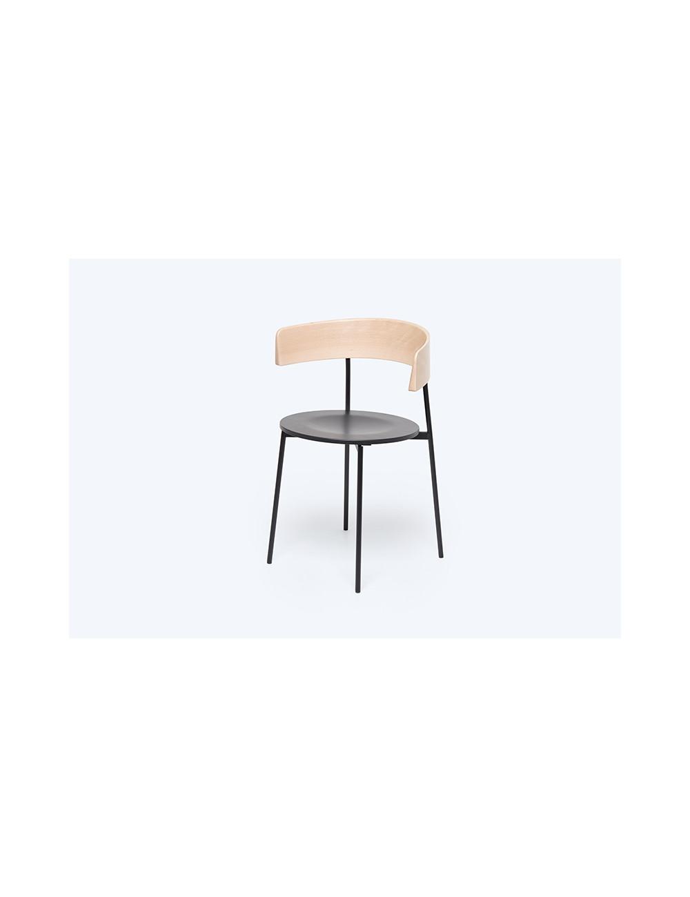 Stoel Friday Dining Chair   zwart/hout/met armen