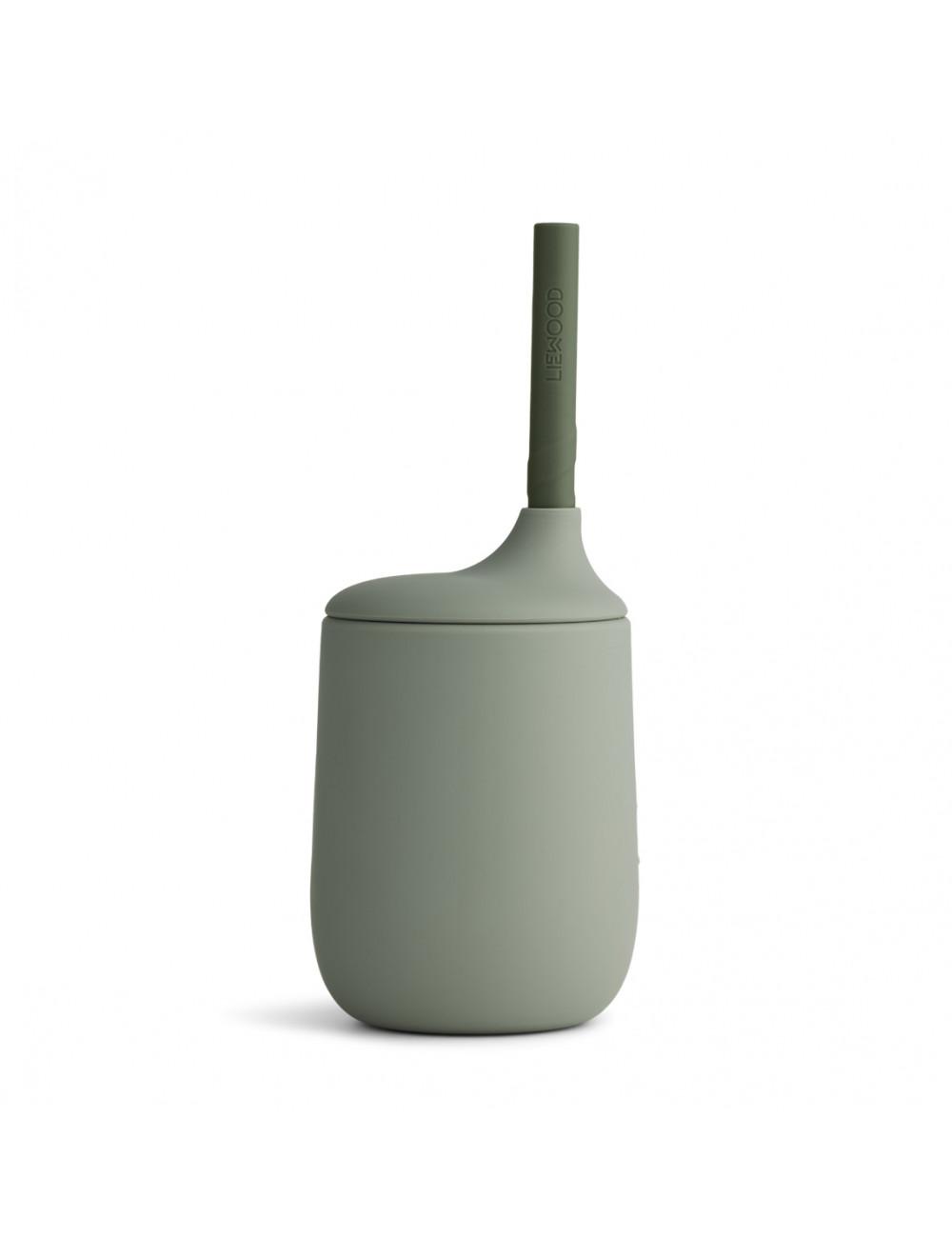 Drinkbeker met rietje Ellis | faune green/hunter green mix