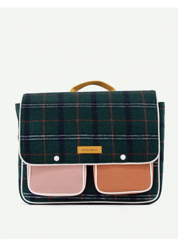 Schooltas Wanderer | forest green checks