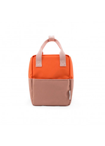 Rugzakje Colourblocking | royal orange/chocolat au lait/pastry pink