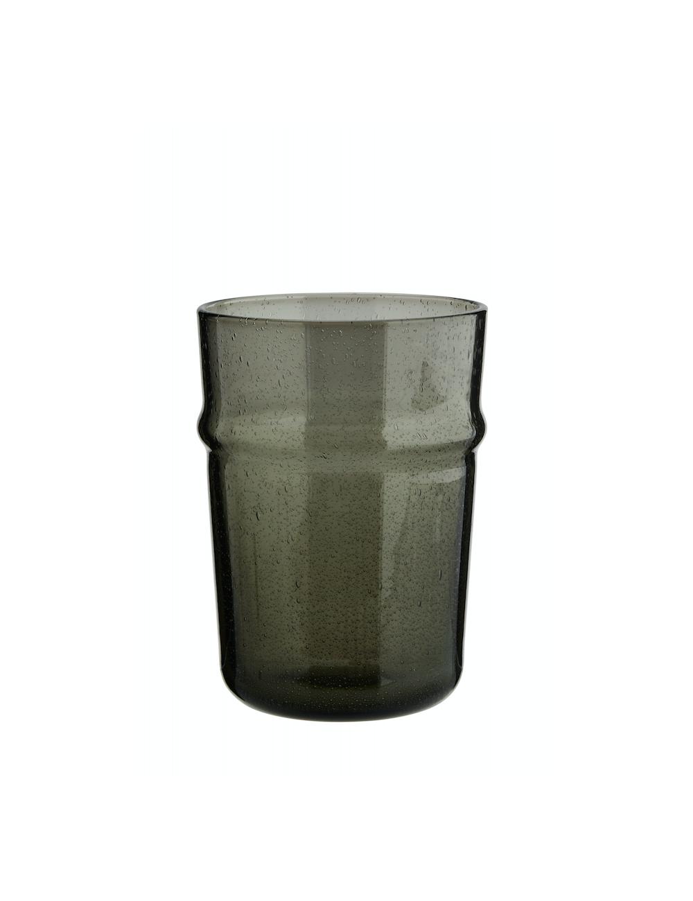 Drinkglas   donkergrijs