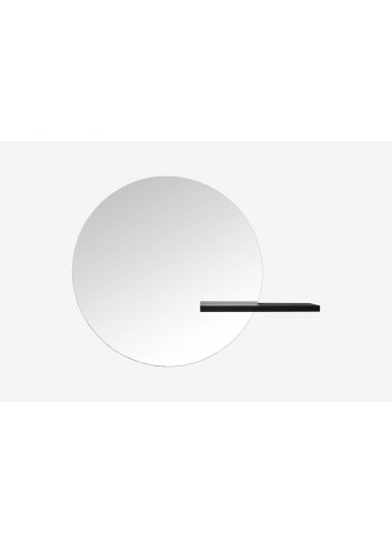 Spiegel Shift   large rond zwart