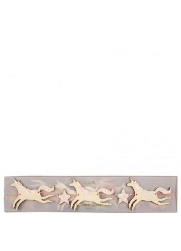 Mini Slinger   houten glitter eenhoorn