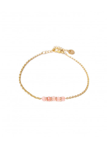 Armbandje Jade Pink | goud