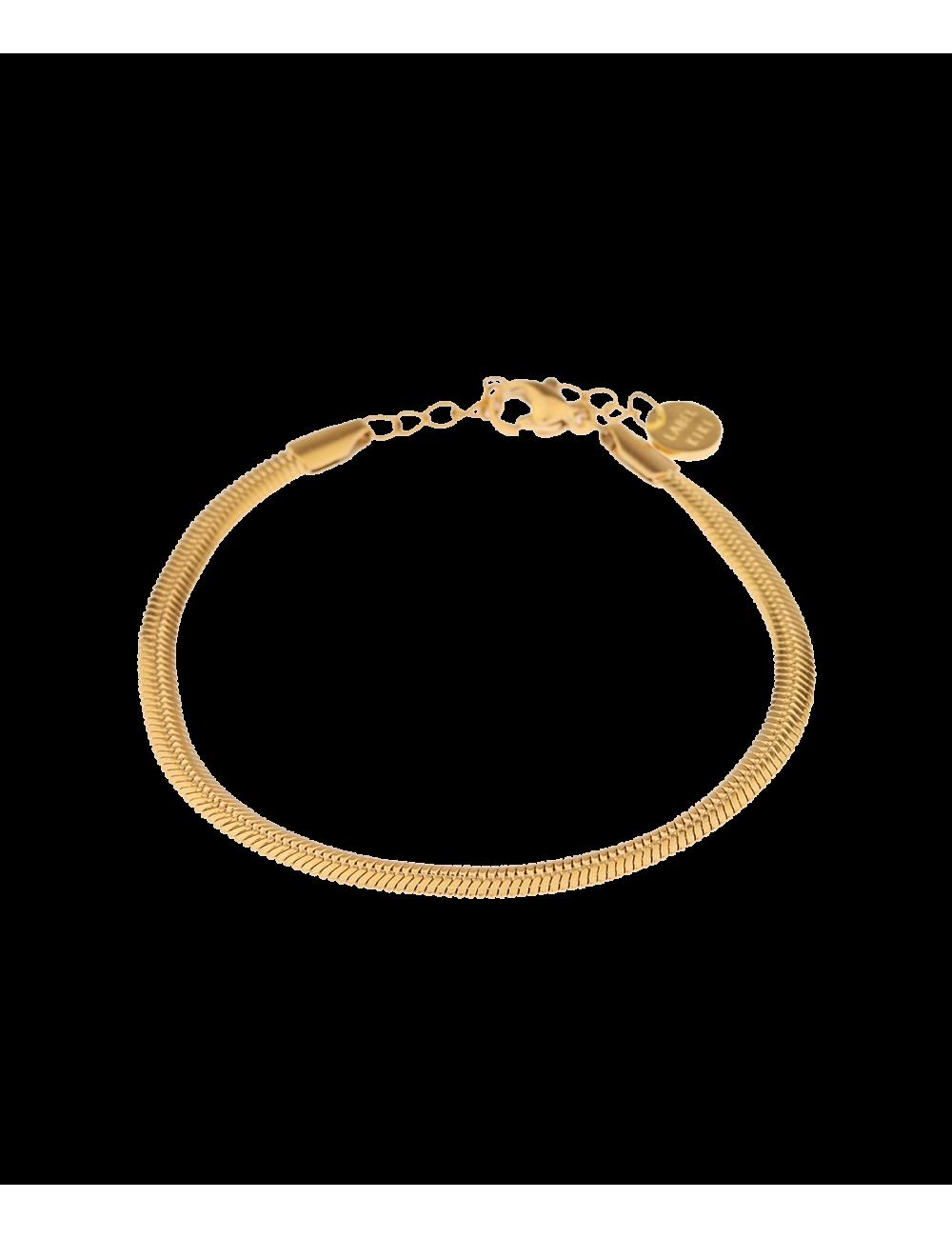 Armbandje Smooth Snake | goud