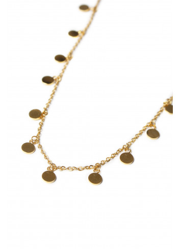 Korte Halsketting Mini Label | goud