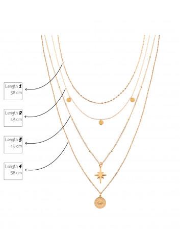 Lange Halsketting North Star | goud