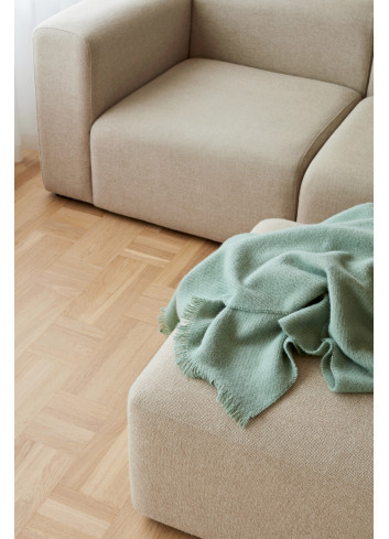 Plaid Mono Blanket 100% wol | verdigris green