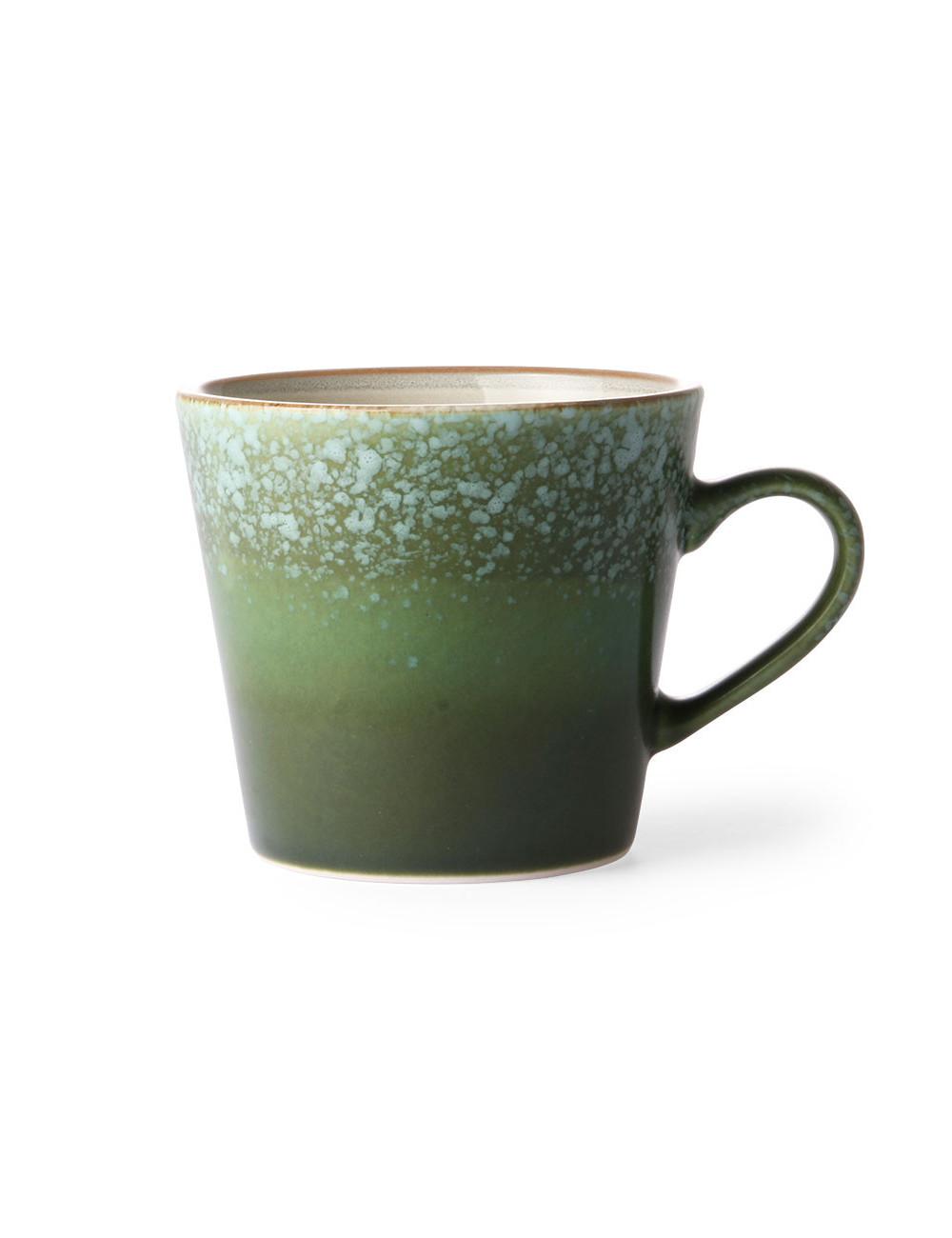 Ceramic 70's Cappuccino Mok   grass