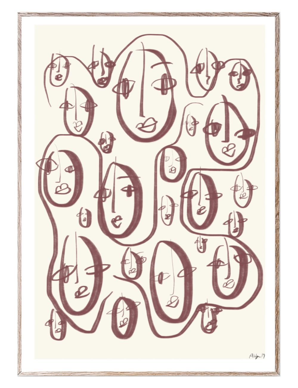 Poster Random Faces I 30x40cm