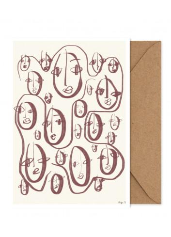 Art Card - Random Faces (A5)