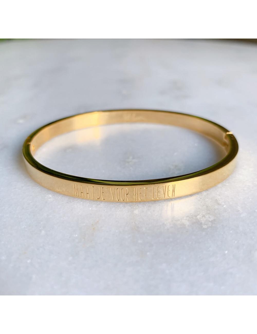 Vaste armband 'Maatje voor het leven' | goud