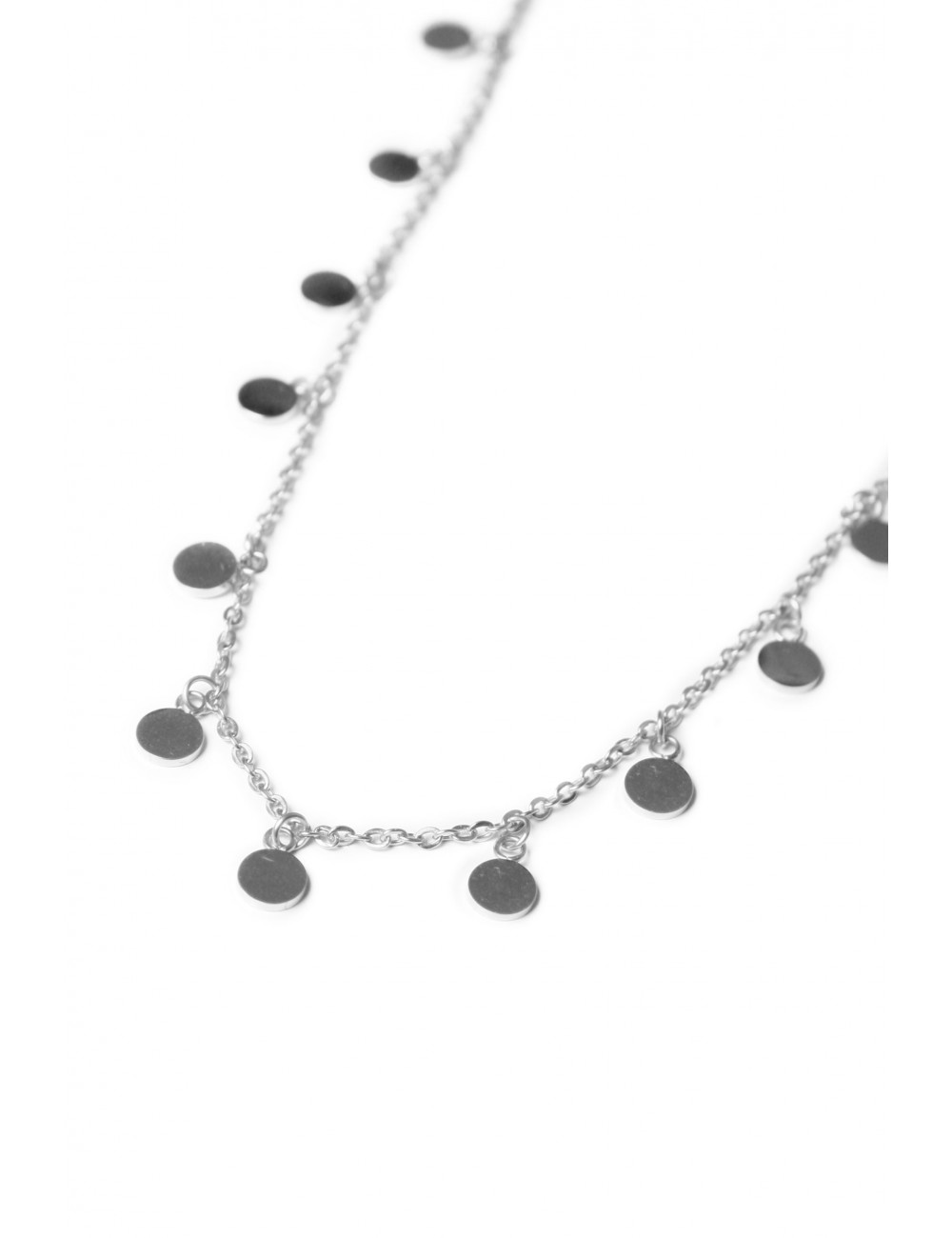 Korte Halsketting Mini Label | zilver