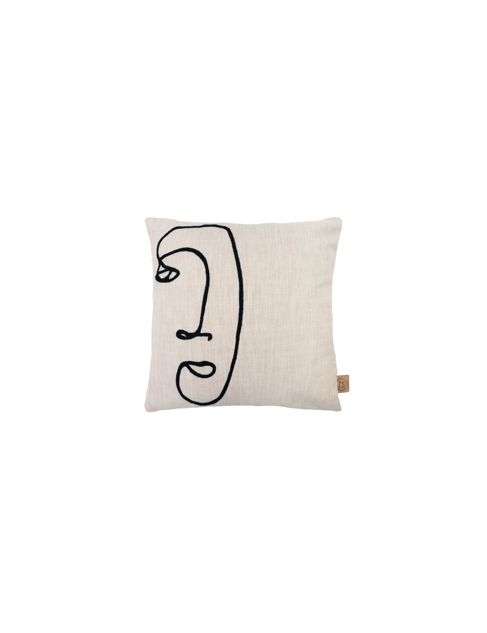 Kussen gezicht 45x45cm | peper en zout