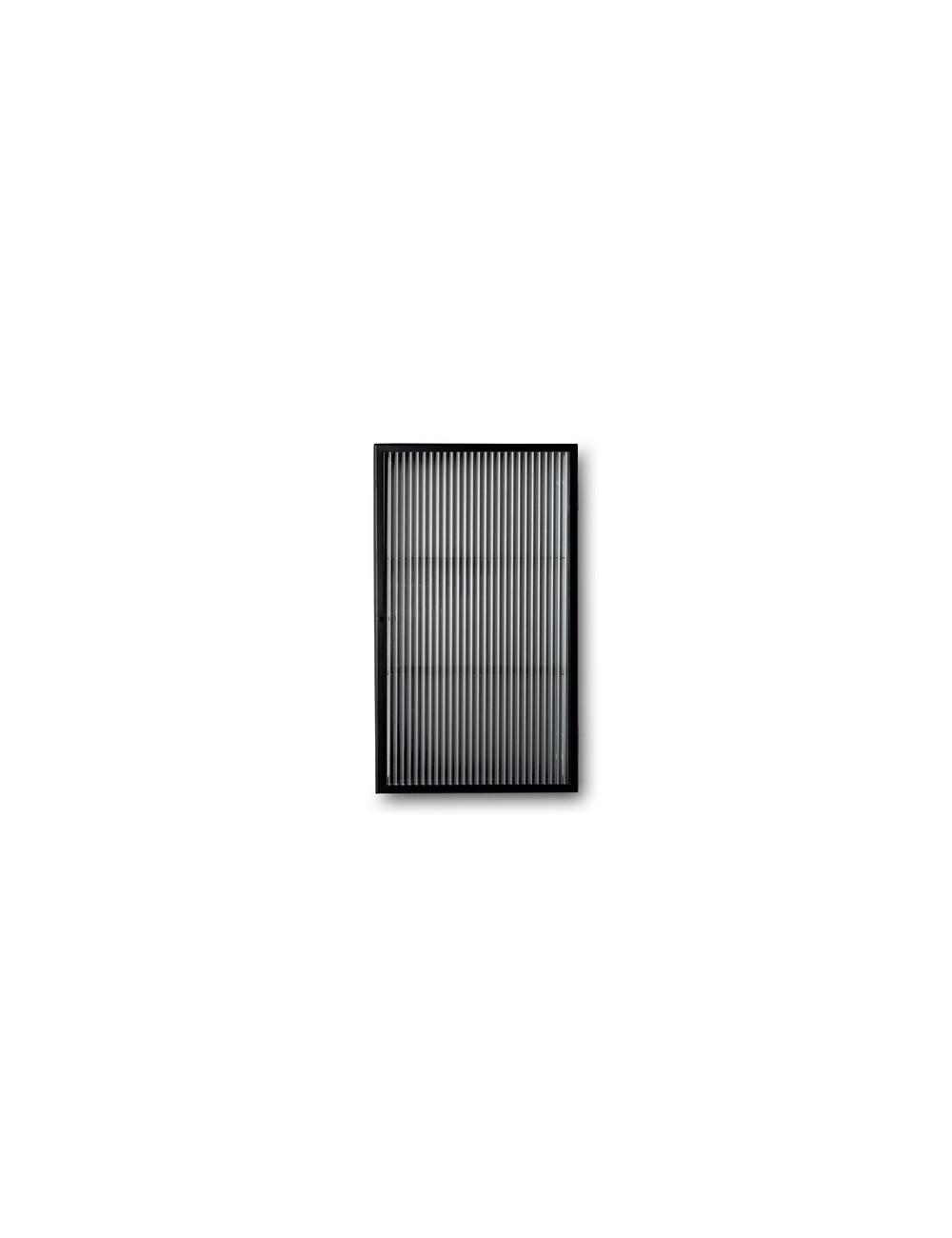 Haze Wandkastje | reeded glass zwart