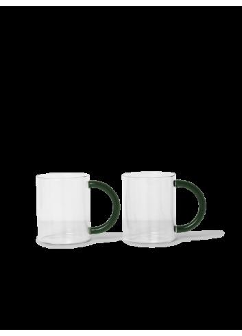 Theeglazen Still Mug (set van 2)   transparant