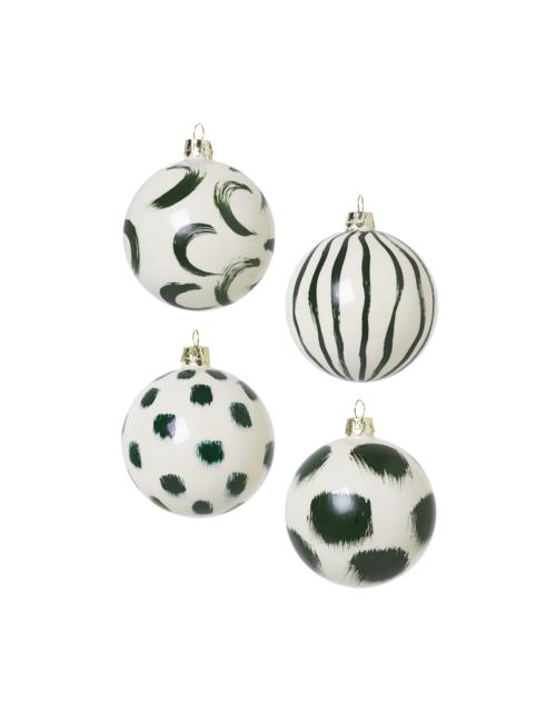 Kerstballen (set van 4) | groen