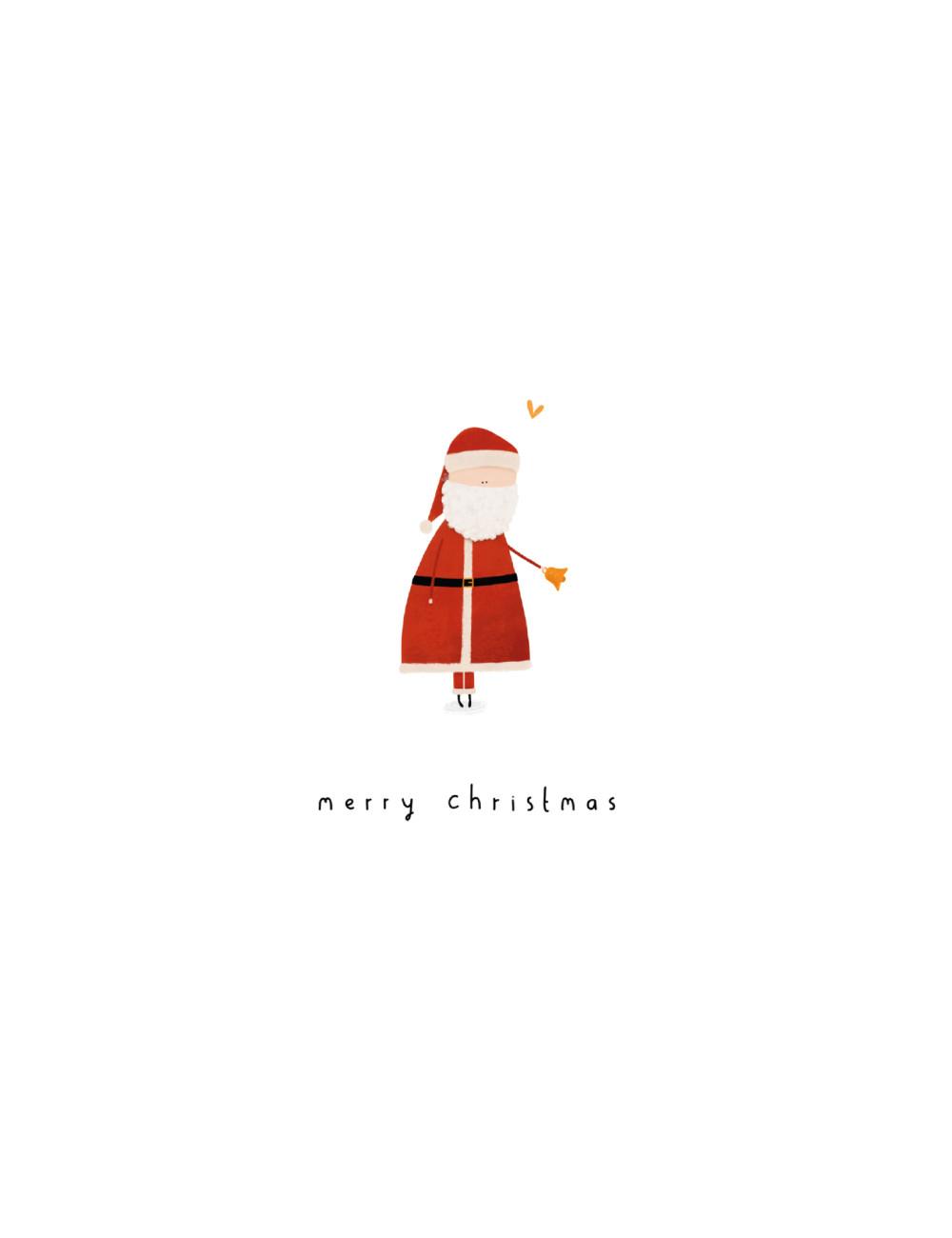 Kerstkaart met envelop | Santa