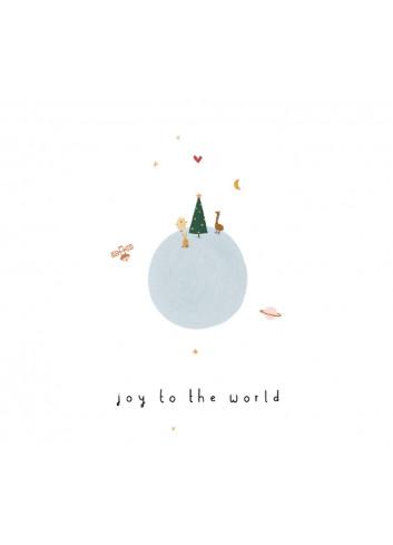 Kerstkaart met envelop | World
