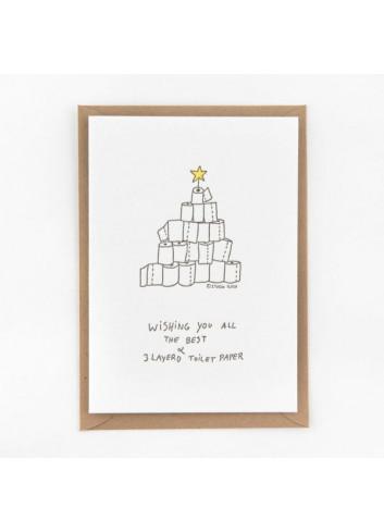 Wenskaart | toilet paper christmas tree