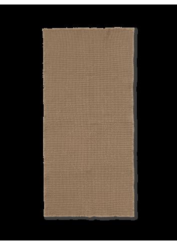 Badhanddoek Wafelstructuur   tan