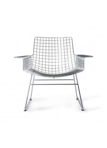 Lounge Stoel Wire | metaal, zilver