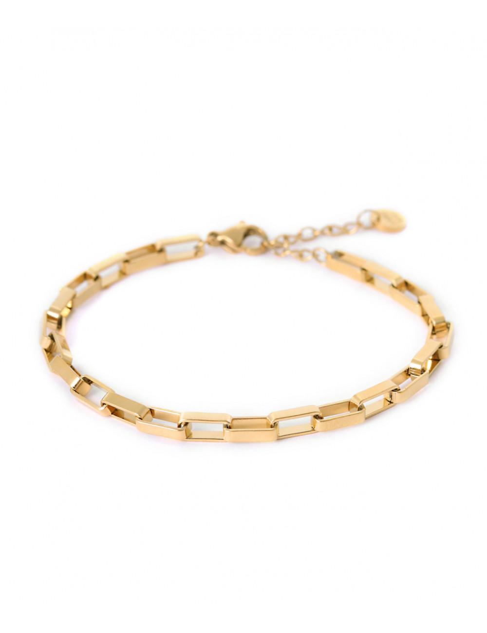Armbandje Big Chain   goud