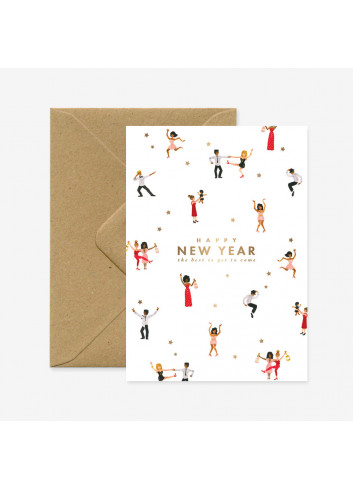 Wenskaart | HNY dancers