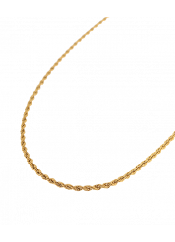 Halsketting Twisted Rope | goud