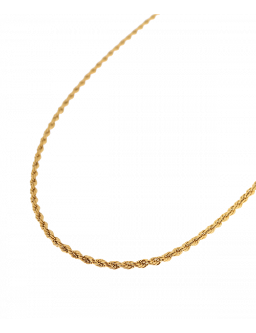 Halsketting Twisted Rope   goud