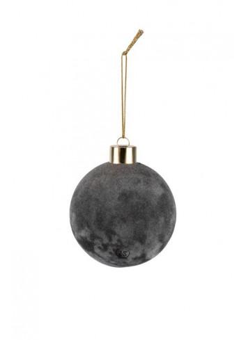 Doosje met 4 Kerstballen | off-black