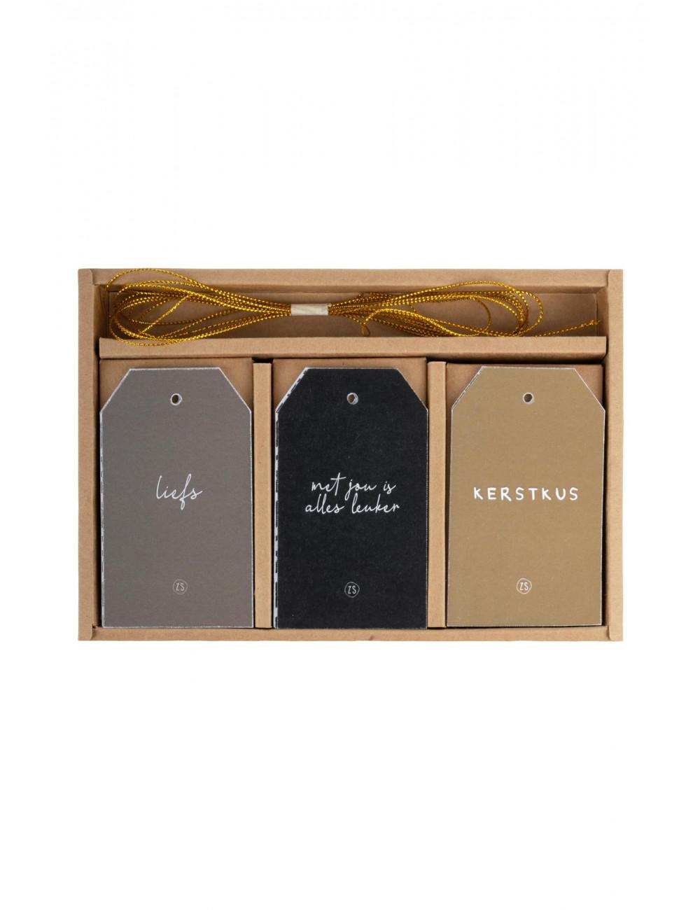 Cadeaulabels Met Koord (set van 12)