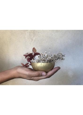 Hangpot Met Droogbloemen | goud