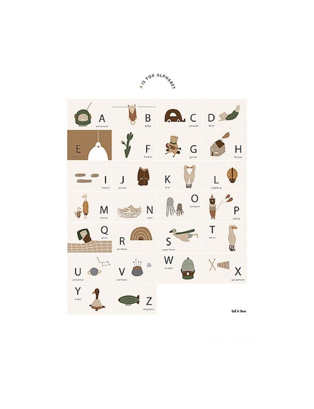 Poster A3 | ABC Alfabet NL