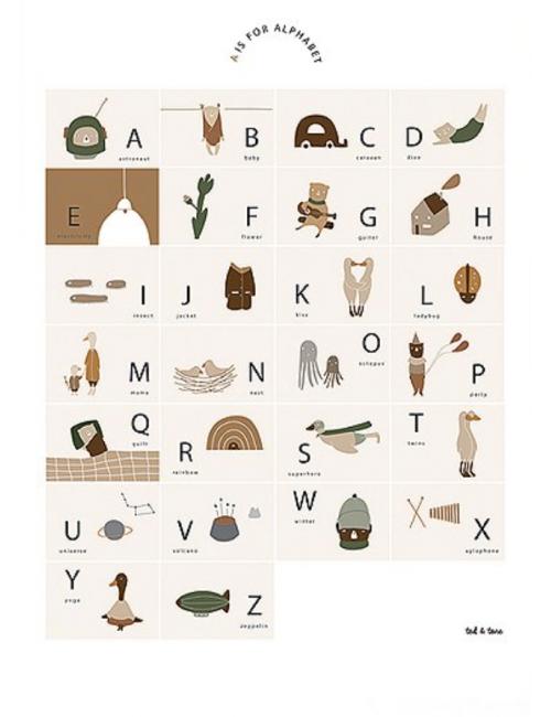 Poster A3   ABC Alfabet NL