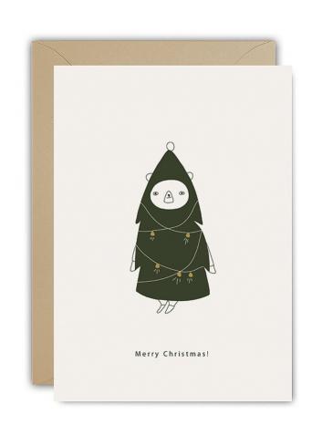 Wenskaart | merry christmas tree