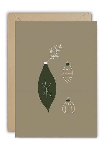 Wenskaart | christmas ornaments