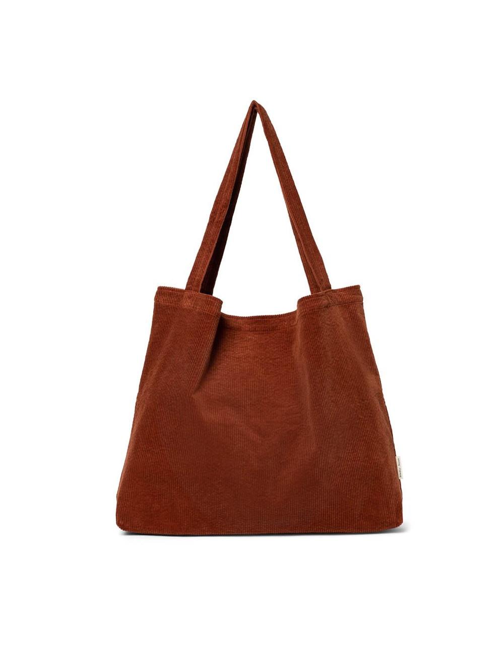 Shopper Rib Bag | rusty
