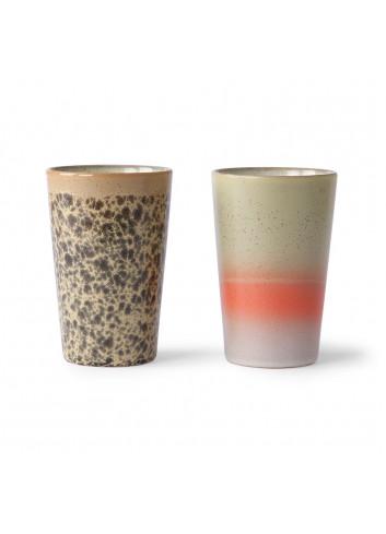Ceramic 70's Theemokken (set van 2)