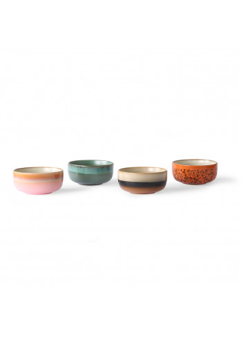 70's Ceramics Dessert Kommen (set van 4)