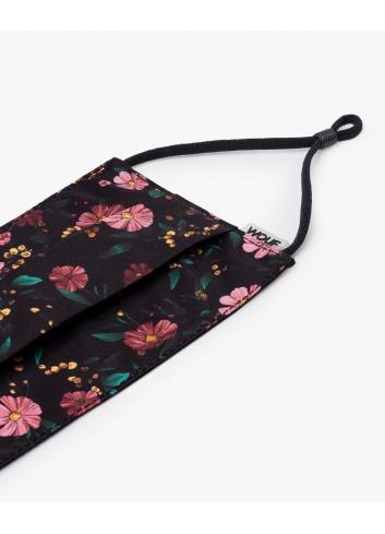 Gezichtsmasker | black flowers