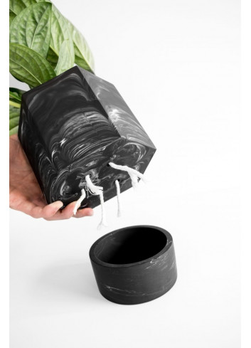 Hapi Self Watering Pot Ø 12 cm| wit marmer